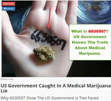 US GOVERMENT PATENT ON WEED