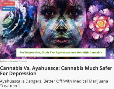 CANNABIS OR AYAHUASCA FOR DEPRESSION