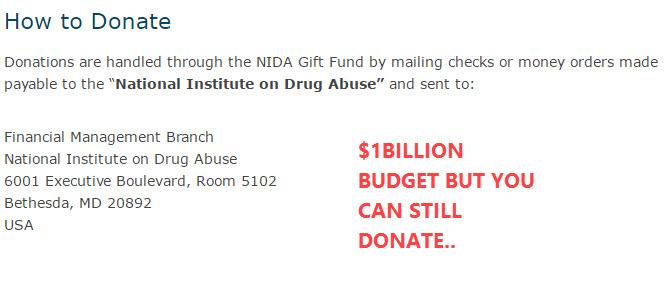 NIDA budget