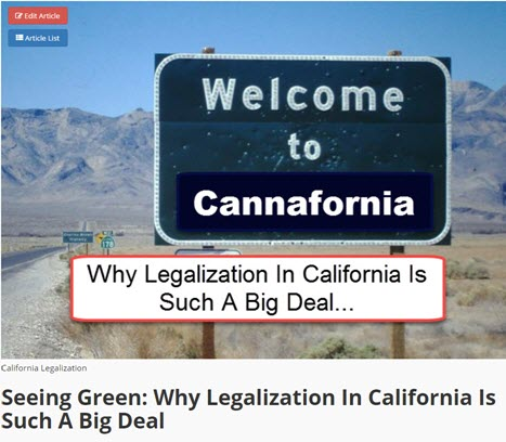 CALIFORNIA LEGALIZATION PLANS