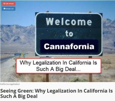 DE LEGALISERING VAN CALIFORNIË WAS ZO EEN GROTE OVEREENKOMST