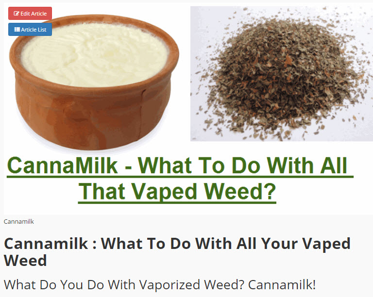VAPED WEED CANNAMILK