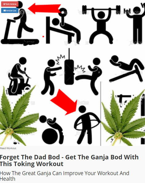 EXERCISE WITH CANNABIS AT THE GYM