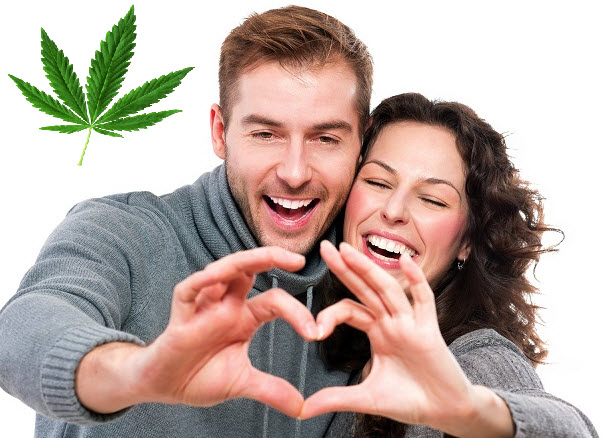 happy people use cannabis