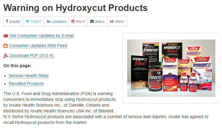 HYDROXYCUT PRODUCTS