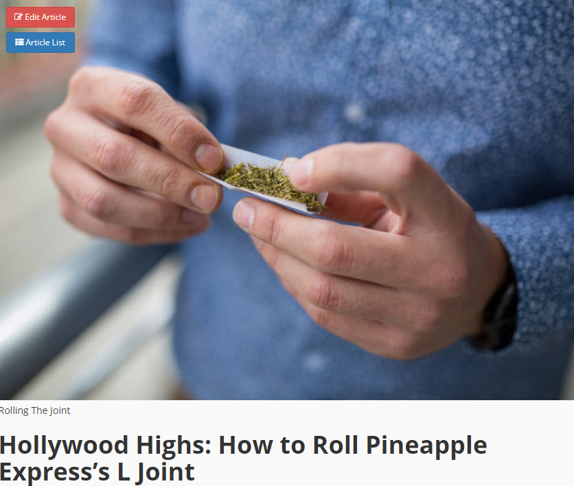 HOW TO ROLL AN L JOINT PINEAPPLE EXPRESS