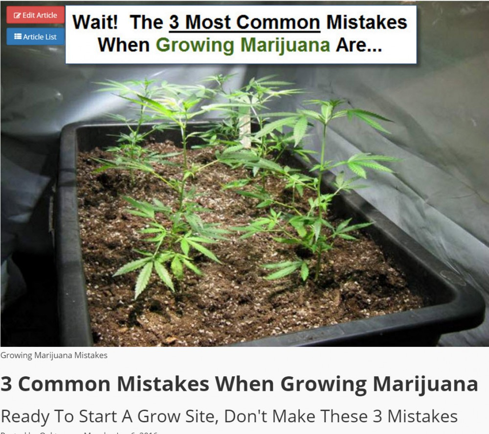MISTAKES GROWING CANNABIS
