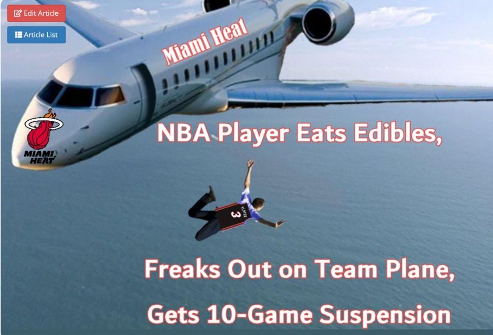 NBA PLAYERS EATS EDIBLES