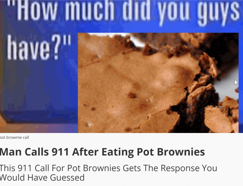 POT BROWNIE 911 CALL
