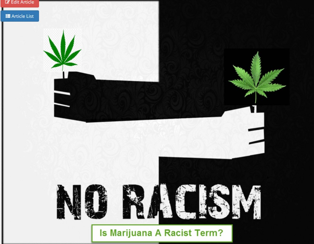 IS MARIJUANA A RACIST TERM
