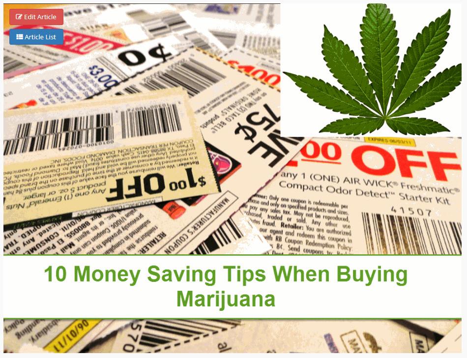 SAVING MONEY ON WEED
