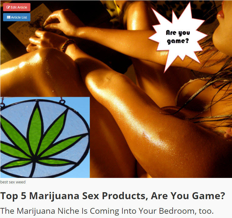 marijuana sex products