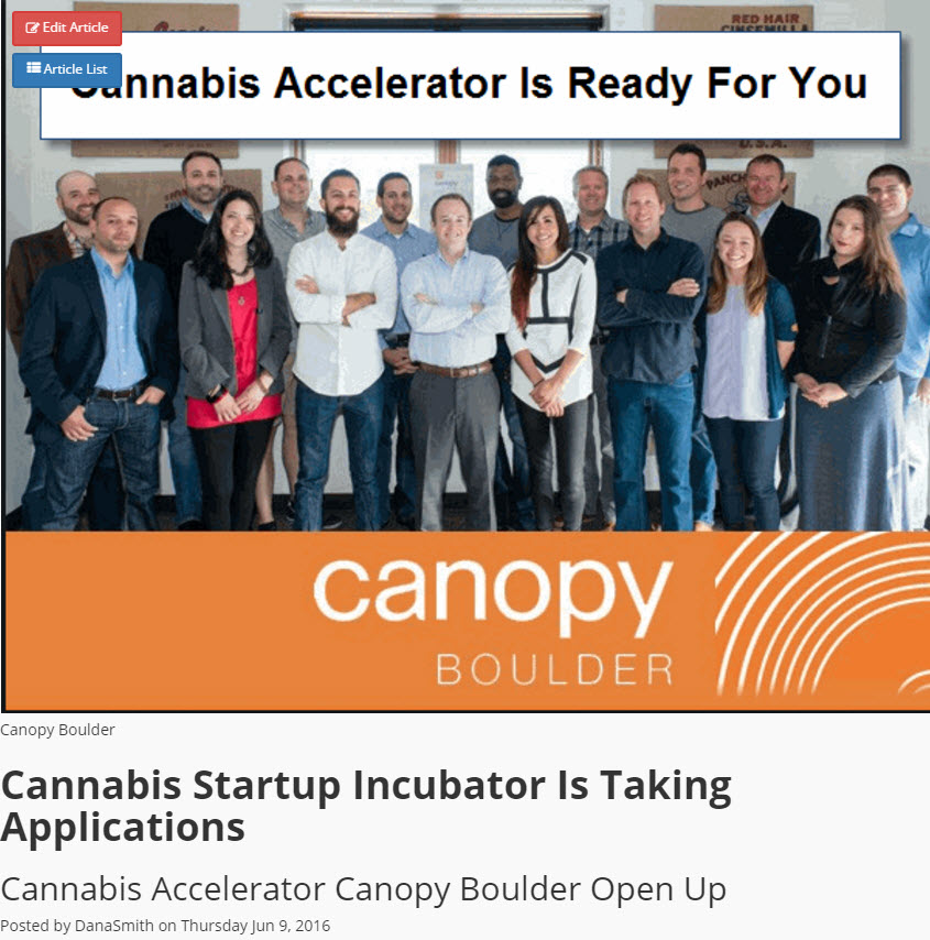 cannabis startup projects