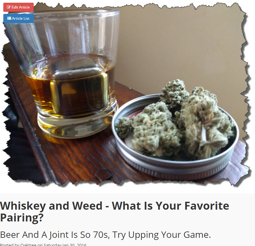 WEED AND WHISKEY PAIRINGS