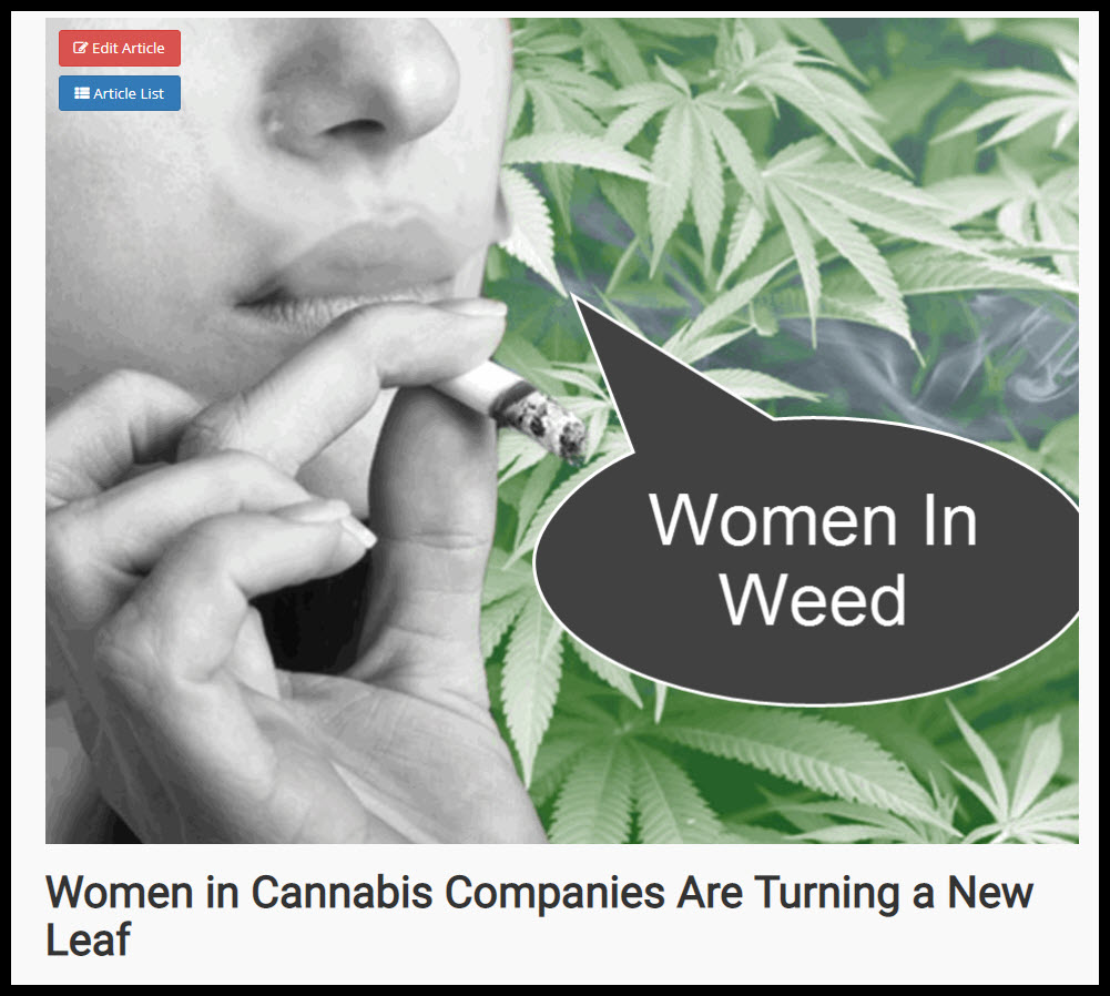 WOMEN IN WEED
