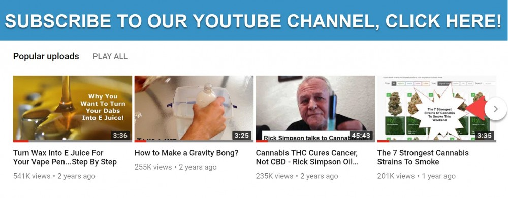 WEED YOUTUBE CHANNELS