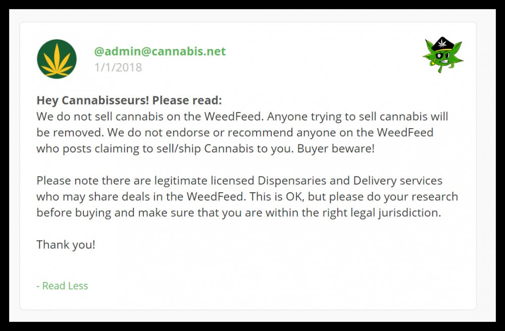warning on illegal cannabis sales