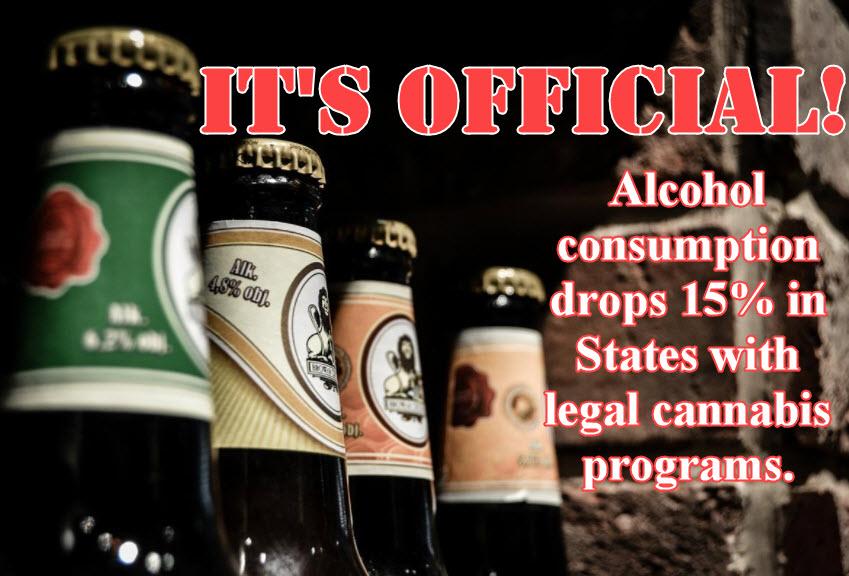 ALCOHOL SALES DROP WITH MARIJUANA LEGALIZATION