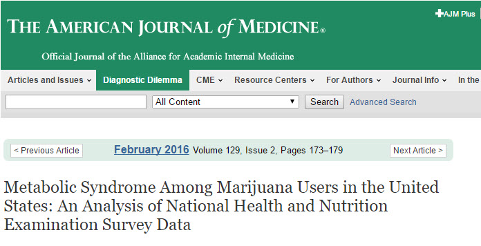 AMERICAN JOURNAL OF MEDICINE CANNABIS