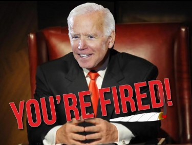 BIDEN FIRES WHITE STAFFERS FOR WEED USE