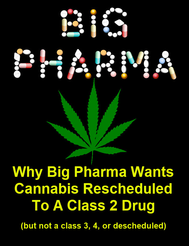 BIG PHARMA ON SCHEDULE 2 MARIJUANA