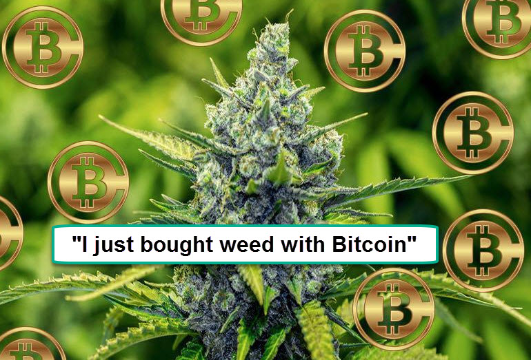 USING BITCOIN TO BUY WEED