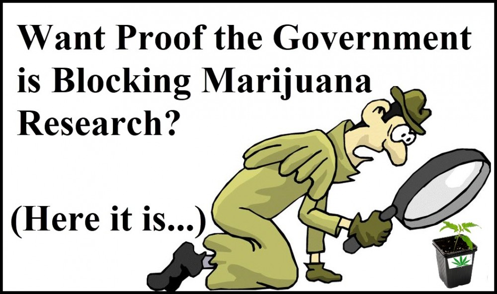 GOVERNMENT BLOCKS CANNABIS RESEARCH