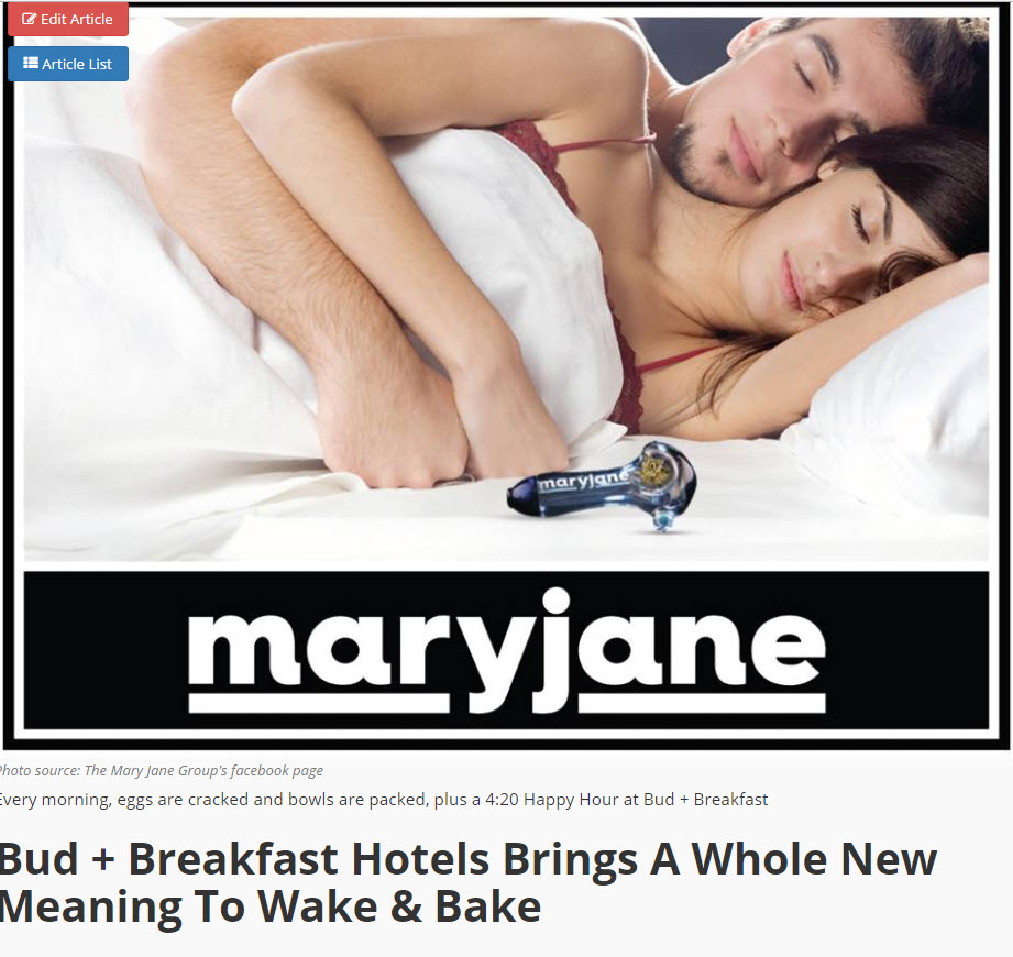 WAKE AND BAKE HOTELS