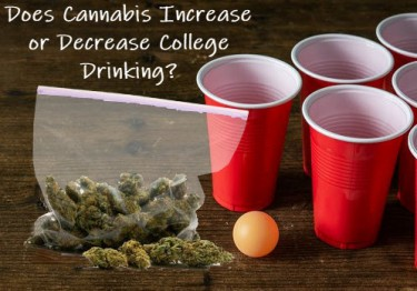 does weed increase college drinking