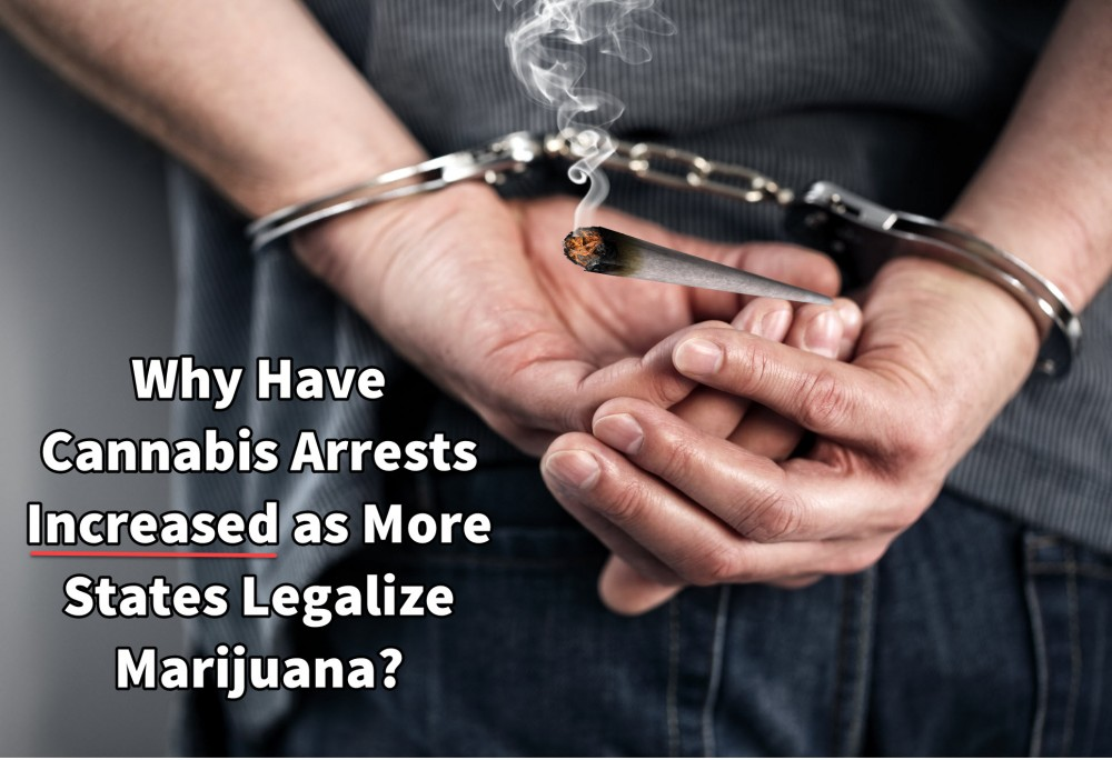 ARRESTS FOR CANNABIS RISE IN LEGAL STATES