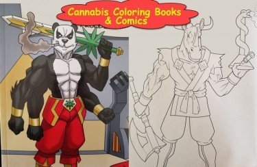 CANNABIS COLORING BOOKS AND SUPERHEROES