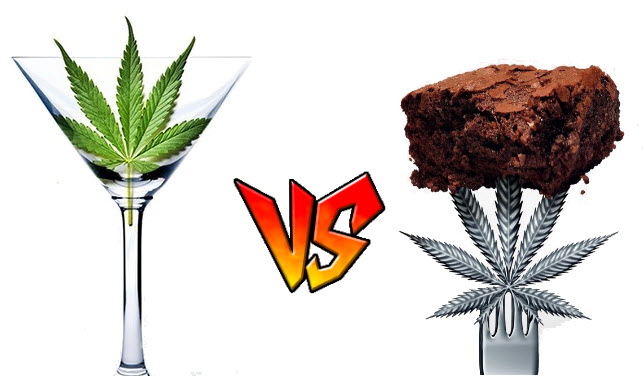 cannabis-infused drinks verse cannabis-infused edibles