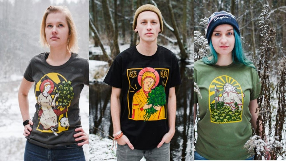gods and cannabis t shirts
