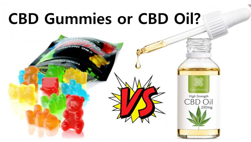 CBD GUMMY BEARS OR CBD OIL