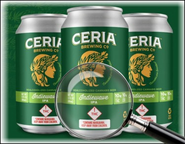 cannabis-infused beer from CERIA