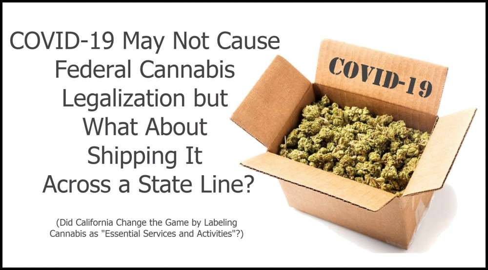 covid 19 cannabis shipping state lines
