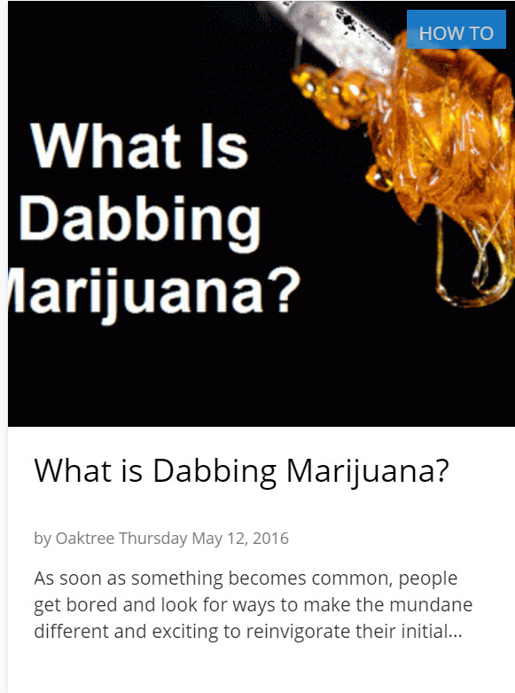 WHAT IS DABBING CANNABIS