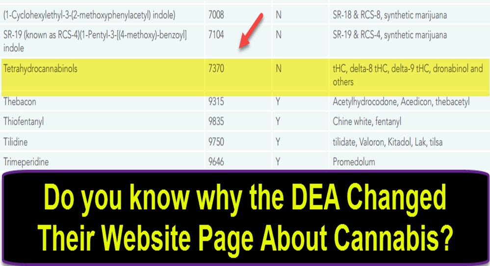dea cannabis listings