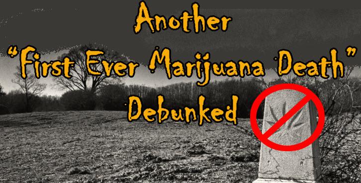 death from marijuana