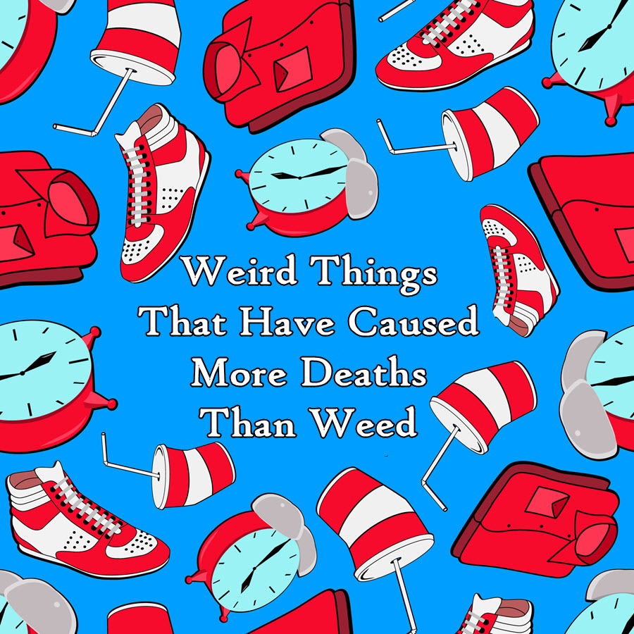 weird things on weed and death