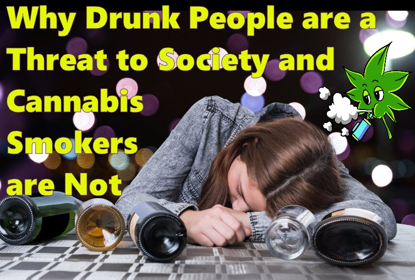 drunk people vs. high people