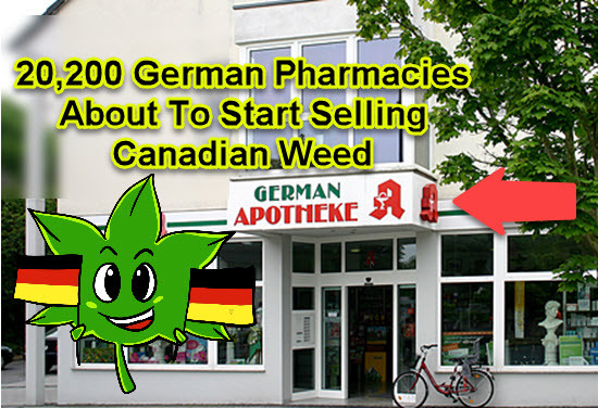 GERMANY PHARMACIES SELL MARIJUANA