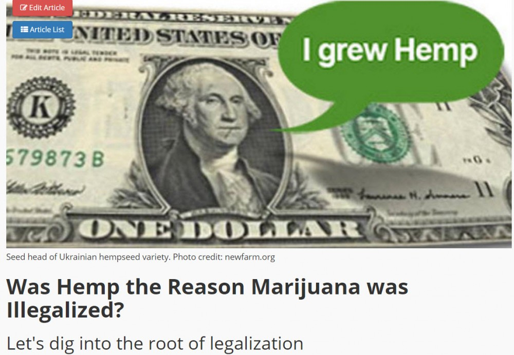 HEMP THE REASON MARIJUANA WAS MADE ILLEGAL