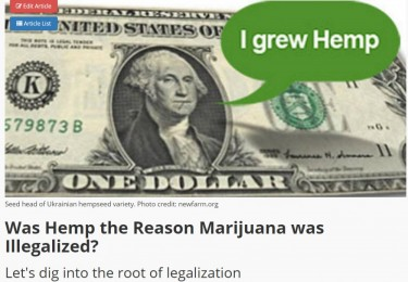 was hemp made illegal because of marijuana