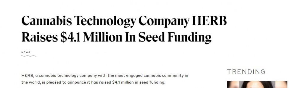 herb gets funding