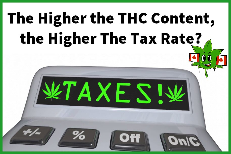 SHOULD HIGHER THC HAVE HIGHER TAXES