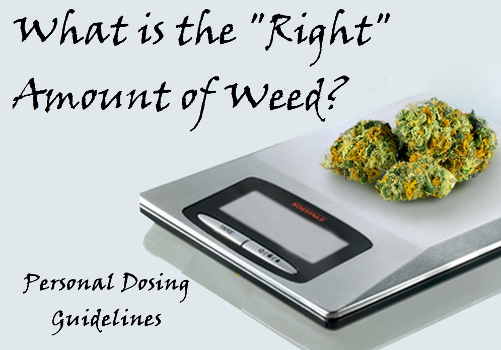 HOW MUCH WEED IS THE RIGHT AMOUNT OR DOSE