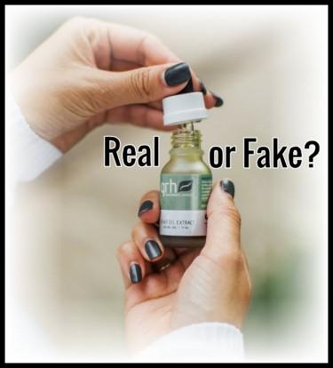 how to tell fake cbd oil