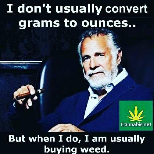 cannabis grams to ounces