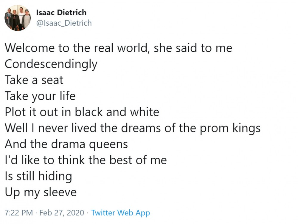 isaac detrich john mayer tweet